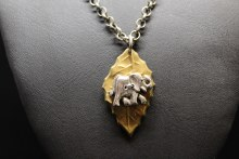 Gold Leaf With Elephant