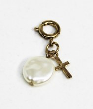 Pearl And Cross Charm