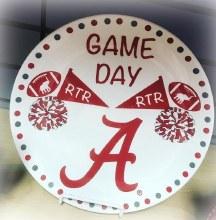 Round Gameday Plate