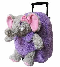 Purple Elephant Suitcase Roll
