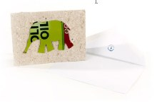 Recycled Elephant Cards