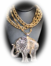 Silver & Gold Elphnt Necklace