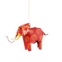 Small Tin Elephant Ornament