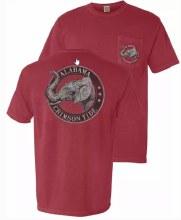 Vintage Elephant Cir Sm Red