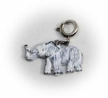 White Washed Elephant Charm