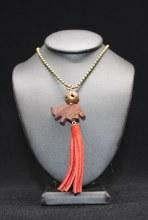 Red Suede Elephant Tassel