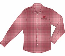 Wrinklefree Ls Shirt  As Red