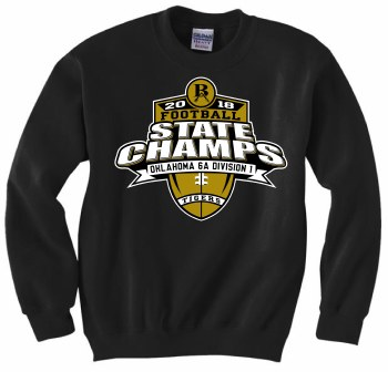 YOUTH STATE CHAMPION CREW SMALL BLACK