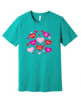 VALENTINES SHORT SLEEVE TEE 21 LARGE SEA