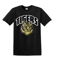 2 TIGERS TEE SMALL BLACK