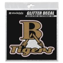 GOLD GLITTER 6X6 DECAL