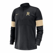 COACH 1/2 ZIP PULLOVER SMALL BLACK AND GOLD