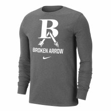 DRI-FIT COTTON LONG SLEEVE SMALL CHARCOAL