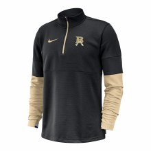 MENS COACH 1/2 ZIP PULLOVER SMALL BLACK/GOLD