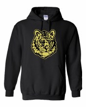 TIGER FACE HOODIE SMALL BLACK