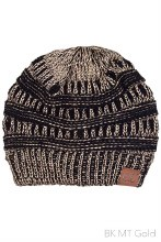 CC METALLIC BEANIE OSFM BLACK