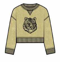 CORDED BOXY PULLOVER SMALL GOLD