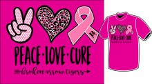 YOUTH PEACE LOVE AND CURE TEE XS PINK