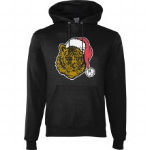 GLITTER TIGER FACE HOODIE SMALL BLACK
