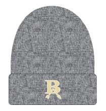 BLACK HEATHER CUFFED BEANIE