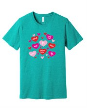 VALENTINES SHORT SLEEVE TEE 21 4XL SEA