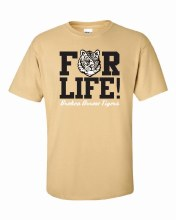 TIGERS FOR LIFE TEE SMALL GOLD