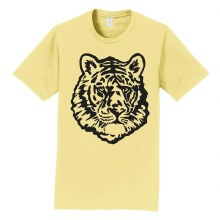 TIGER FACE TEE SMALL GOLD