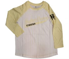 YOUTH STONE AGE 3/4 SLEEVE TEE XS GOLD