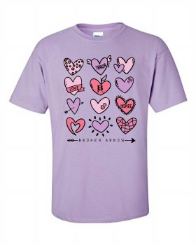 TEACH SHORT SLEEVE TEE 21 SMALL PURPLE