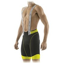 Santini 365 Bi Cool Bib Short Black Yellow