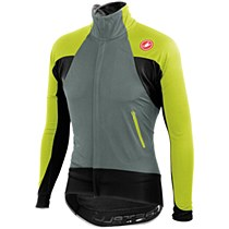Castelli Alpha Wind Jersey Full Zip Army/ Lime