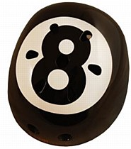 Kiddimoto eight Ball Helmet