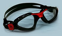 Aquasphere Kayenne Black and Red Frame with Clear Lens