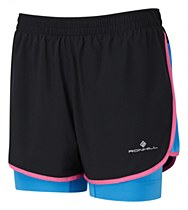 Ronhill Womens Aspiration Twin Short Black/Pink