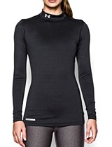 Under Armour Fitted L/S Mock Black
