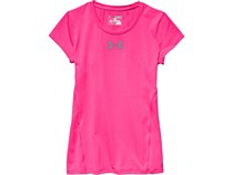 Under Armour Girls Heat Gear Short/ Sleeve Pink