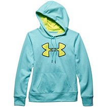 Under Armour Women's Big Logo Hoodie Aqua