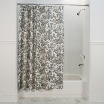 T675 Victoria Toile Shower Curtain - Black