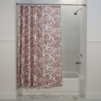 T675 Victoria Toile Shower Curtain - Red