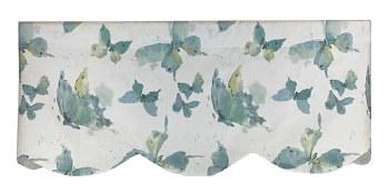 A Flutter Scallop Cornice Valance - Mist