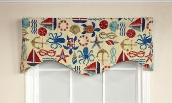Bay Area Valance - Nautical