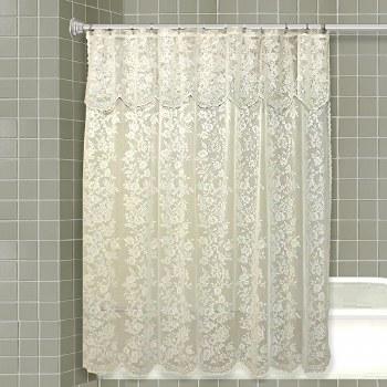 Romance Lace Shower Curtain - Beige