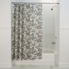 T675 Victoria Toile Shower Curtain - Black