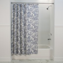T675 Victoria Toile Shower Curtain - Blue