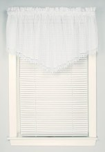 Bay Breeze Pointed Valance - White