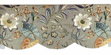 Butterfly Trail Scalloped Cornice Valance - Platinum