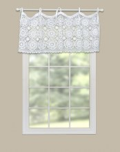 Crochet Envy Valance - White