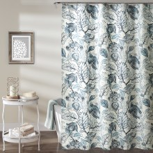 Cynthia Jacobean Shower - Dusty Blue