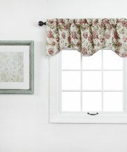 Dahlia Lined Scallop Valance with Cording - Beige