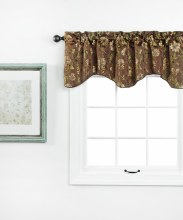 Dahlia Lined Scallop Valance with Cording - Chocolate